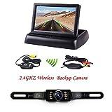 """Rückfahrkamera Podofo® 4.3"""" Faltbarer Drahtloser Auto Rückansicht TFT LCD Monitor"""