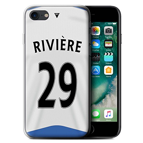 Offiziell Newcastle United FC Hülle / Gel TPU Case für Apple iPhone 7 / Shelvey Muster / NUFC Trikot Home 15/16 Kollektion Rivière
