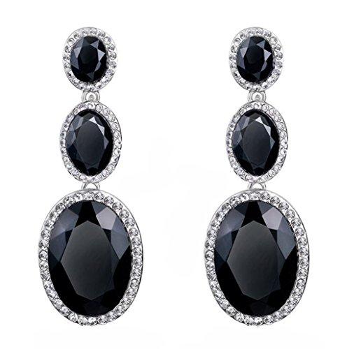Demarkt De las Mujeres Chicas Vendimia Pendientes largos Moda Linda Cristal Diamante Brillantes Pendientes Regalo