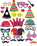#4: SYGA Party Props Birthday Theme Paper Craft Item, Multi Colour (Set of 24)