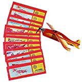 Gleitflugzeuge Set - Der Klassiker für den Kindergeburtstag - Styropor-Flieger - einzeln verpackt - für Tombola Schultüte Mitgebsel Überraschung (12er Set)