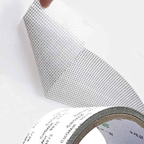 Nastro per Riparare Zanzariere Nastro Adesivo in Fibra di Vetro per Finestre Insetto 5 X 200 CM