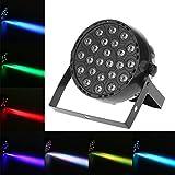 Docooler 24W LED Stage Lights ,DMX512 RGB Par Lighting, Music Activated Disco Light, Disco Party Lights,Master Slave Stage Effect Light for Bar DJ Club Home KTV Show
