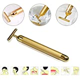 PEPECARE 24k Gold Beauty Bar Facial Roller Vibration Skincare Massager Derma Anti-aging