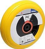 Kraftmann 80657 PU-Rad für Schubkarre, gelb, 400 mm
