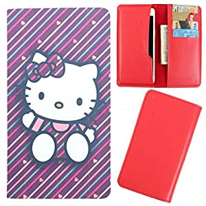 DooDa - For Ma304 GenxDroid7 AX504 PU Leather Designer Fashionable Fancy Case Cover Pouch With Card & Cash Slots & Smooth Inner Velvet