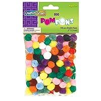 Creativity Street Bright Hues Pom Pons, 0.5-Inch, 100-Pack (AC8114-01)