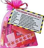 Kit de survie d'amitié - Kit pour faire sourire vos amis - Cadeau idéal pour un ami pour son anniversaire ou Noël
