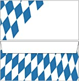 Kuverts Bayern Raute DIN lang ohne Fenster (15 Briefumschläge)