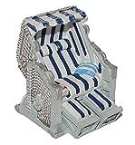 Unbekannt 3-D Figur Strandkorb blau weiß - z.B. als Tischdeko Mini Deko Dekofigur - Ostsee Meer Nordsee Maritim Klein Strandkörbe