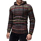 Kapuzenpullover Sunnyadrain Herren Hoodie Muster Plus Größe Schlank Geschäft Pullover Winter Warm Outwear Sweatshirt Top Langarm