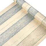 Jedfild Carte da parati autoadesivo in PVC carta di parete woodgrain studenti scrivanie degli sportello armadio guardaroba mobili in legno ristrutturato a parete, registri di tatuaggio