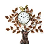 #4: Collectible India Metal Decorative Tree Design Bird Wall Clock Vintage Hanging Tree of Life Home Office Decor Arts (Size:20 x 20), (Dial 6.5 Inches)