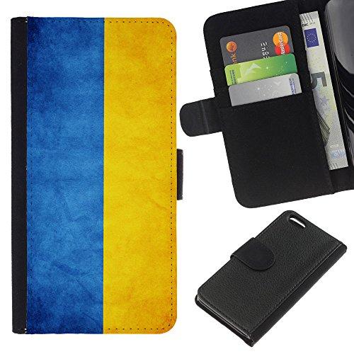 Graphic4You Vintage Uralt Flagge Von Slowakei Slowakisch Design Brieftasche Leder Hülle Case Schutzhülle für Apple iPhone 5C Ukraine Ukrainisch