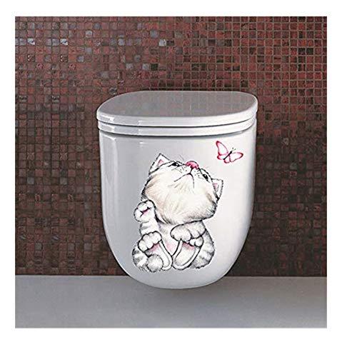 TianranRT Dekorativ Malerei Schlafzimmer Wohnen Zimmer Fernseher Wand Toilette Dekoration Wandsticker Wandbild (B)