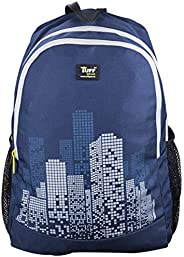 Tuff Gear Polyester Light Weight Auckland 29 L Navy Blue College Bag Backpack