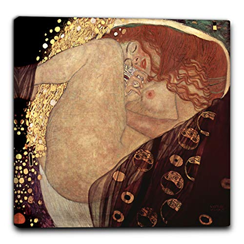 Niik Quadro + Telaio (BC) Danae di Gustav Klimt 80 x 77 x 1,7 cm Falso d'autore Stampa su Tela