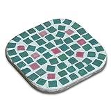 Mosaik Bausatz, 2 Untersätze, Lichtgrün - Lachsorange