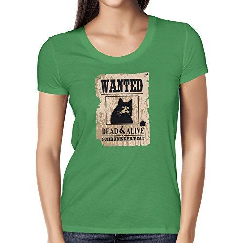 NERDO - Wanted Cat - Damen T-Shirt Grün