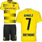 BVB Borussia Dortmund Set bestehend aus Heimtrikot sowie Heimhose Saison 2017 2018 Farbe Dembele, Größe 152