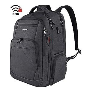 """KROSER Laptop Rucksack 17,3"""" Business Rucksack Schulrucksack Großer Wasserdicht Taschen Reise Backpack Daypack Mit USB…"""