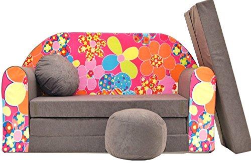 Pro Cosmo A12 Kinder-Schlafsofa, inklusive Polsterhocker, Fußablage und Kissen