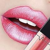 CICIYONER Damen Metall Lippenstift Lip Gloss Liquid Lippe Kosmetik, 24 Farben (09 #)