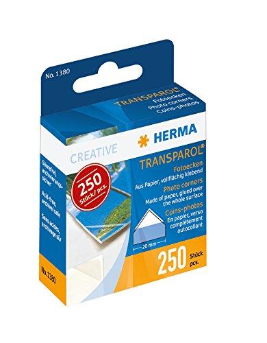 Herma Transparol photo corners dispenser pack 250