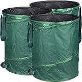 GardenMate® 3x Pop-up Gartensack 160l - Selbstaufstellend aus robustem Polyester Oxford 600D Gewebe