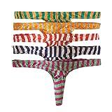 Slip uomo, bikini intimo shorts a vita bassa boxer confezione da 5 pezzi String 1 XL
