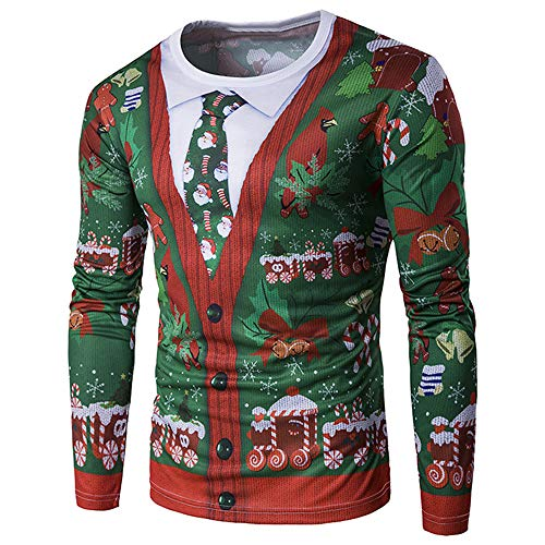 Litthing 124/5000 Camisa Navidad Caballero Traje Navidad