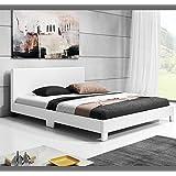 Muebles Bonitos - Cama de matrimonio Luna en color blanco (135x190cm)