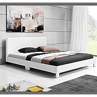 Muebles Bonitos – Cama de matrimonio Luna (180x200cm) blanco