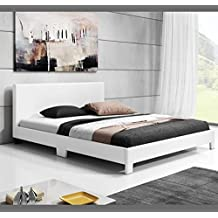 Muebles Bonitos - Cama de matrimonio Luna en color blanco (180x200cm)