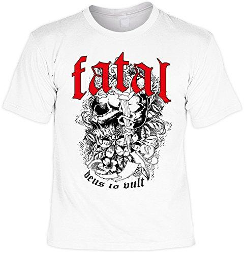 cooles Biker T-Shirt Herren Shirt - Motorrad Geschenk Geburtstag Weihnachten Papa Weiß