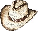 Strohhut Westernhut Cowboyhut Outdoorhut Countryhut Stars & Stripes »SANTIAGO«