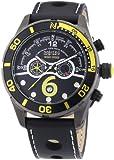 Nautec No Limit Herren-Armbanduhr XL Silverstone Chronograph Quarz Leder SV QZ/LTGMBK