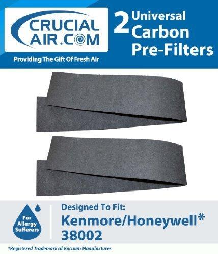 2er Pack Neue Hohe Qualität Universal-Luftfilter passend für Sears Kenmore, Honeywell, Duracraft, Holmes, Whirlpool, Hunter, DeLonghi & Sunbeam; Filter Teil # 38002; Entworfen und Hergestellt von Crucial Air (Teile Sears Kenmore)
