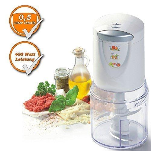 alhacker (Zerkleinerer, ideal für Zwiebeln, Fleich, Eiswürfel uvm., starke 400W) (Gemüse-eis-behälter)
