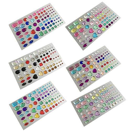 Y Acryl Strass Perlen Set Kristall Edelstein Aufkleber für Handy Basteln Scrapbooking ()