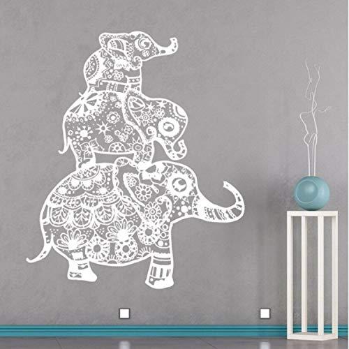 Smntt Familia De Elefantes Tatuajes De Pared Ropa De Cama Bohemia Boho...