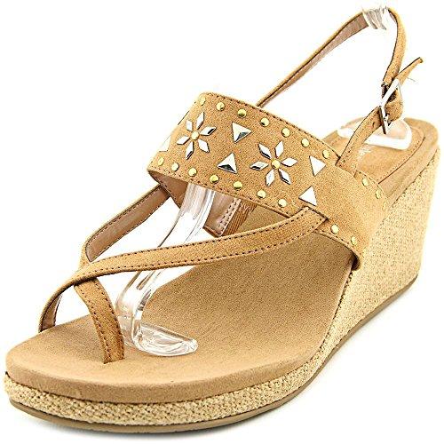 Style & Co Jazzmin Textile Keilabsätze Sandale Dark Natural