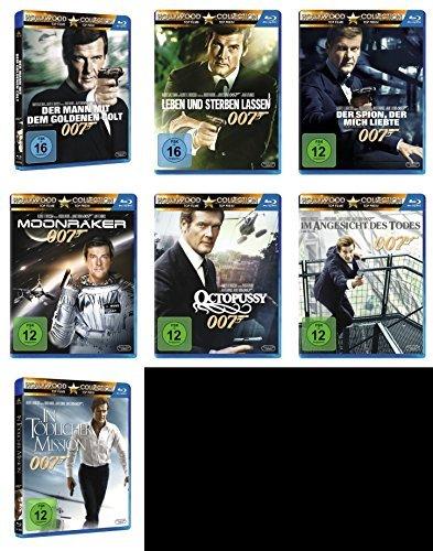 MOORE komplette Edition 7 BLU-RAY Collection -- > DER MANN MIT DEM GOLDENEN COLT * LEBEN UND STERBEN LASSEN * DER SPION DER MICH LIEBTE * MOONRAKER * OCTOPUSSY * IM ANGESICHT DES TODES * IN TÖDLICHER MISSION ()