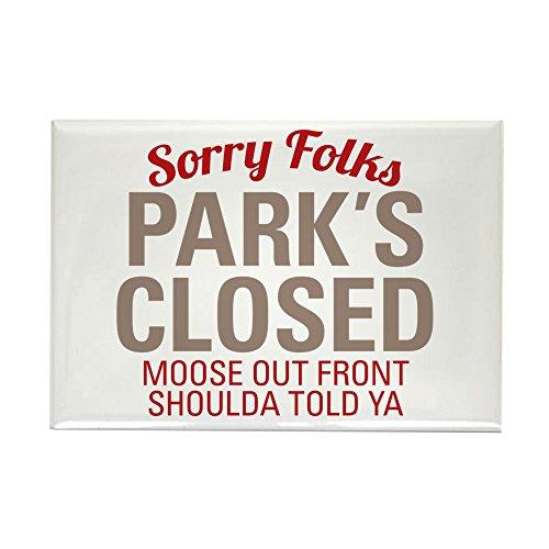World-Parks geschlossen-Rechteck Magnet ()