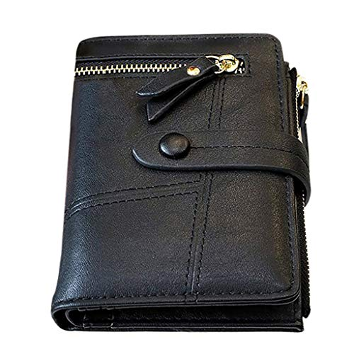 Ledertasche, Schultertasche, Geschenk, Handgefertigte Tasche,Frauen Kurze Geldbörsen Mini Geldbörsen Kleine Falte Weibliche Geldbörse Kartenhalter ()