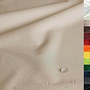 TOLKO Sonnenschutz Nylon Planen-Stoff Meterware - 180 cm Breit, Wasserdicht, Reißfest und Blickdicht als Universal Outdoorstoff zum Nähen (Sand-Beige)