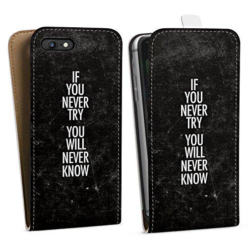 Apple iPhone X Silikon Hülle Case Schutzhülle Sprüche Motivation Fitness Downflip Tasche weiß