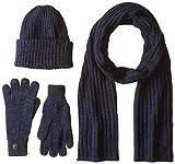 G-STAR RAW Herren Mütze, Schal & Handschuh-Set Xemy Giftpack, Mehrfarbig (Dk Black/Mazarine Blue/Im 8606), One Size (Herstellergröße: PC)
