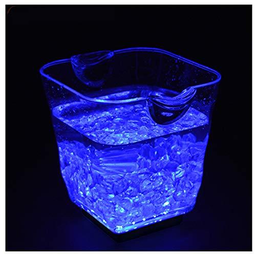 DAWNBOYE LED Eiskübel,5L Großraum Flaschenkühler,Sektkühler,Weinkühler,Getränkekühler,Kühler Led Wasserdicht mit Farbwechsel,für Party,Haus,Bar,etc,Bierfass,Aufladen