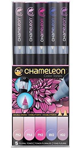 Chameleon Marker Set Blumentöne mit 5 Stiften